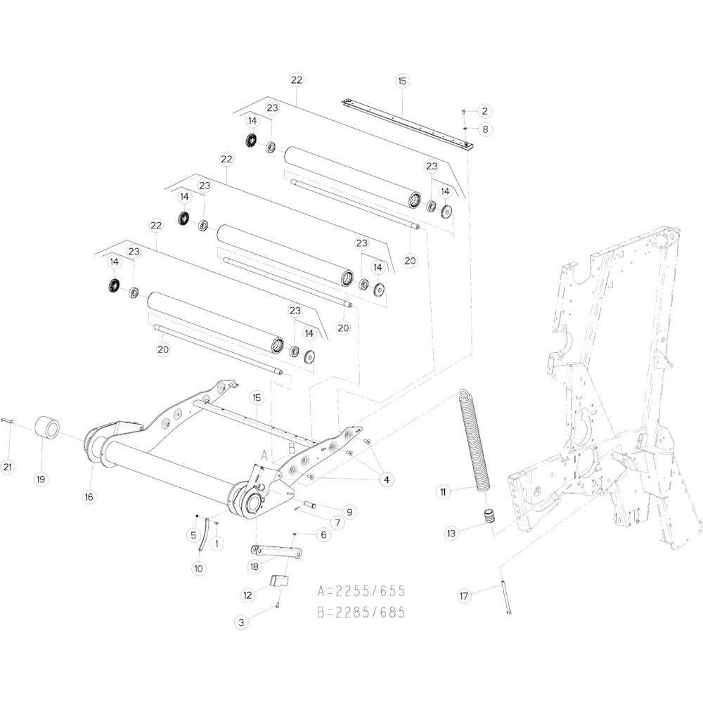 14 Riemspanner passend voor KUHN VB2285