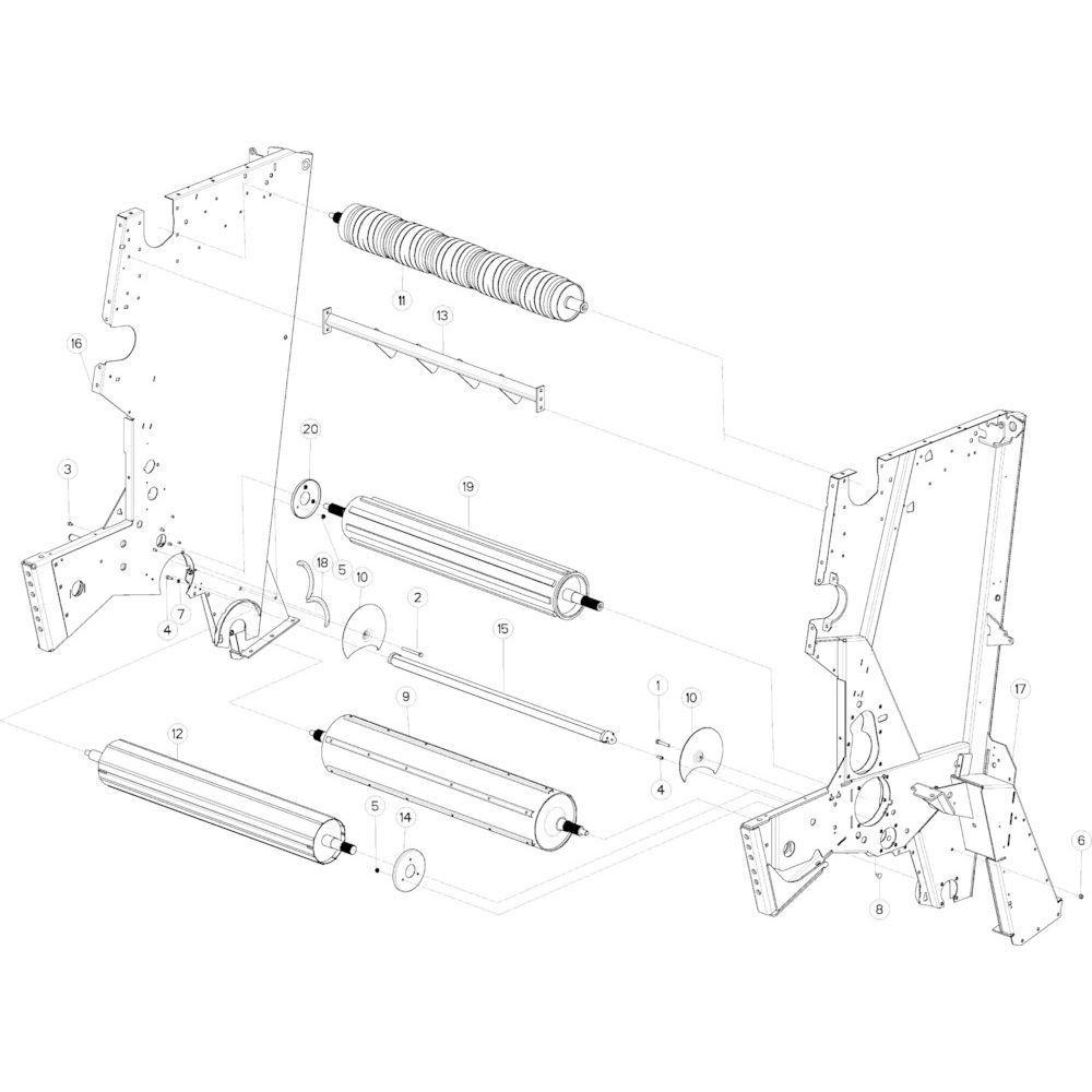 15 Rol centraal frame passend voor KUHN VB2285