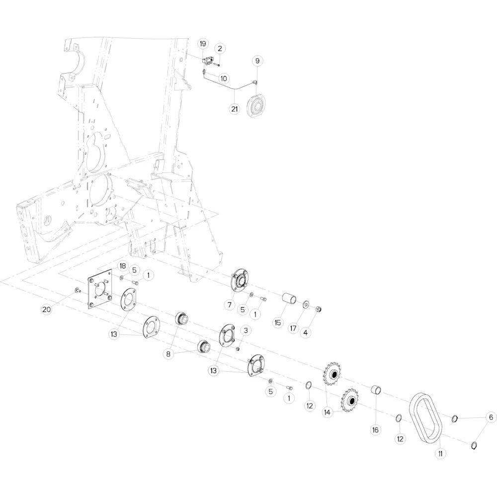 19 Aandrijfketting links passend voor KUHN VB2285
