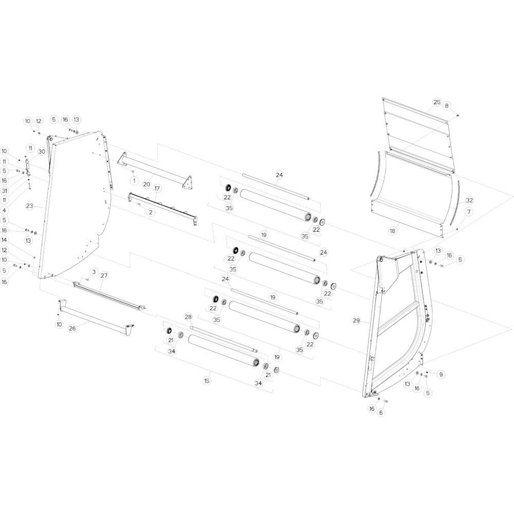 21 Achterklep passend voor KUHN VB2285