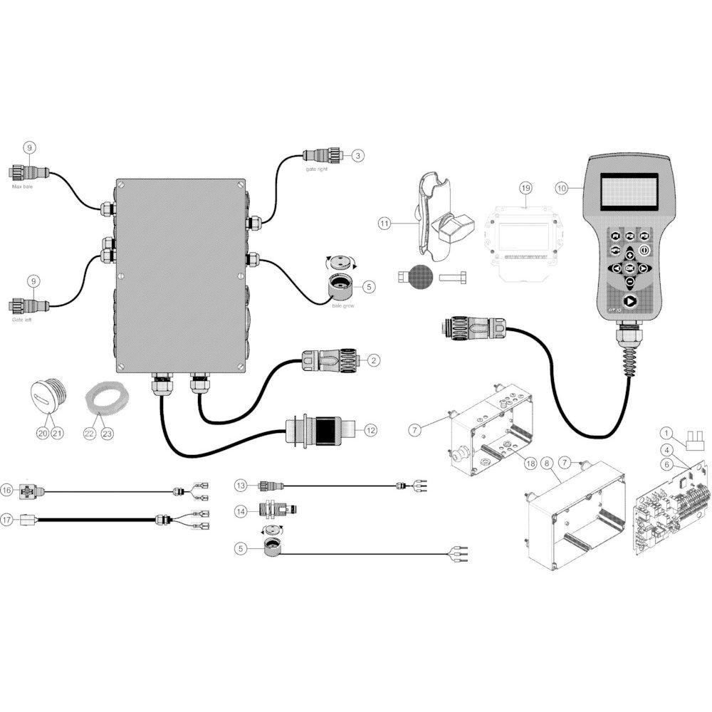 24 Besturingsbox Autoplus passend voor KUHN VB2285