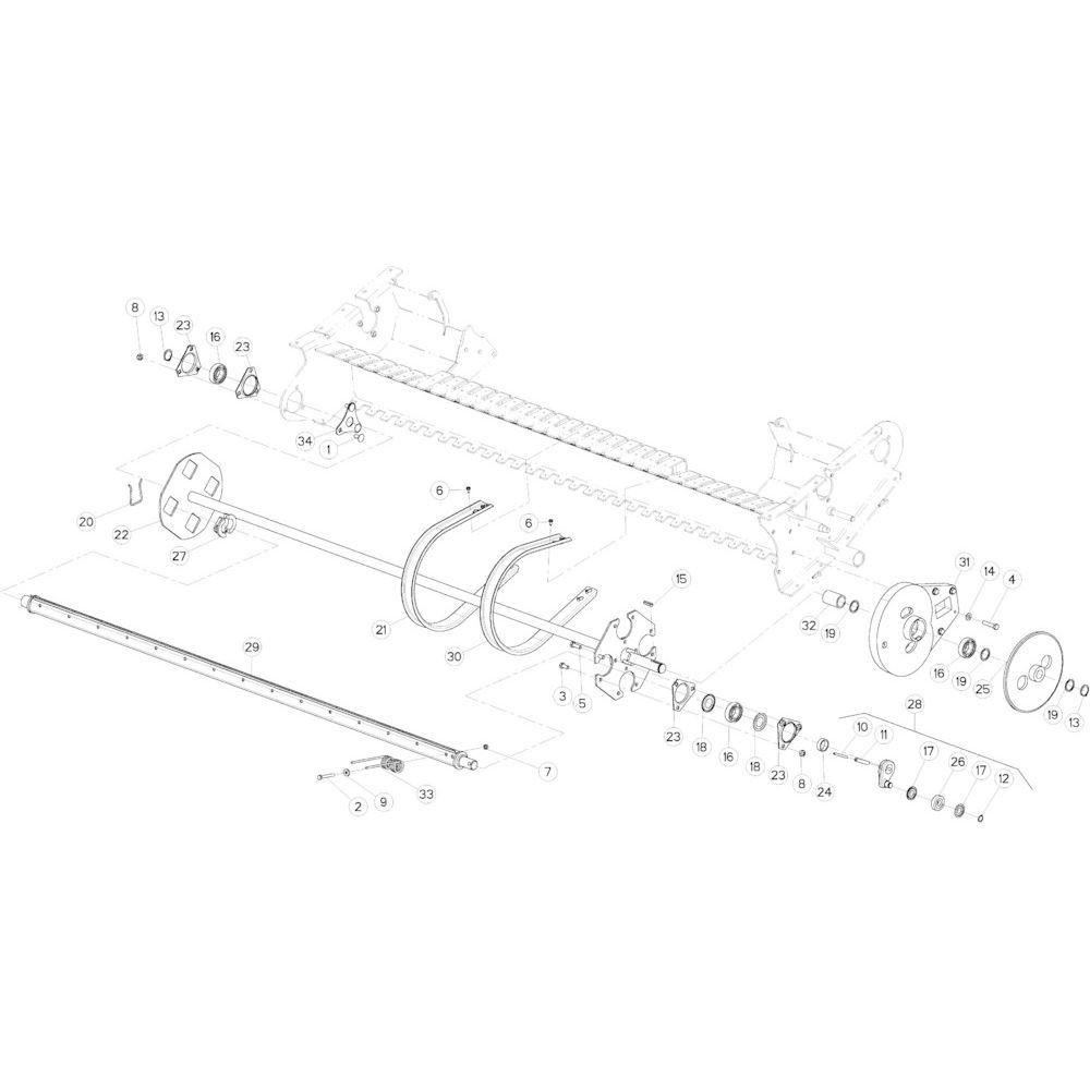 38 Tandbalk Optiflow passend voor KUHN VB2285