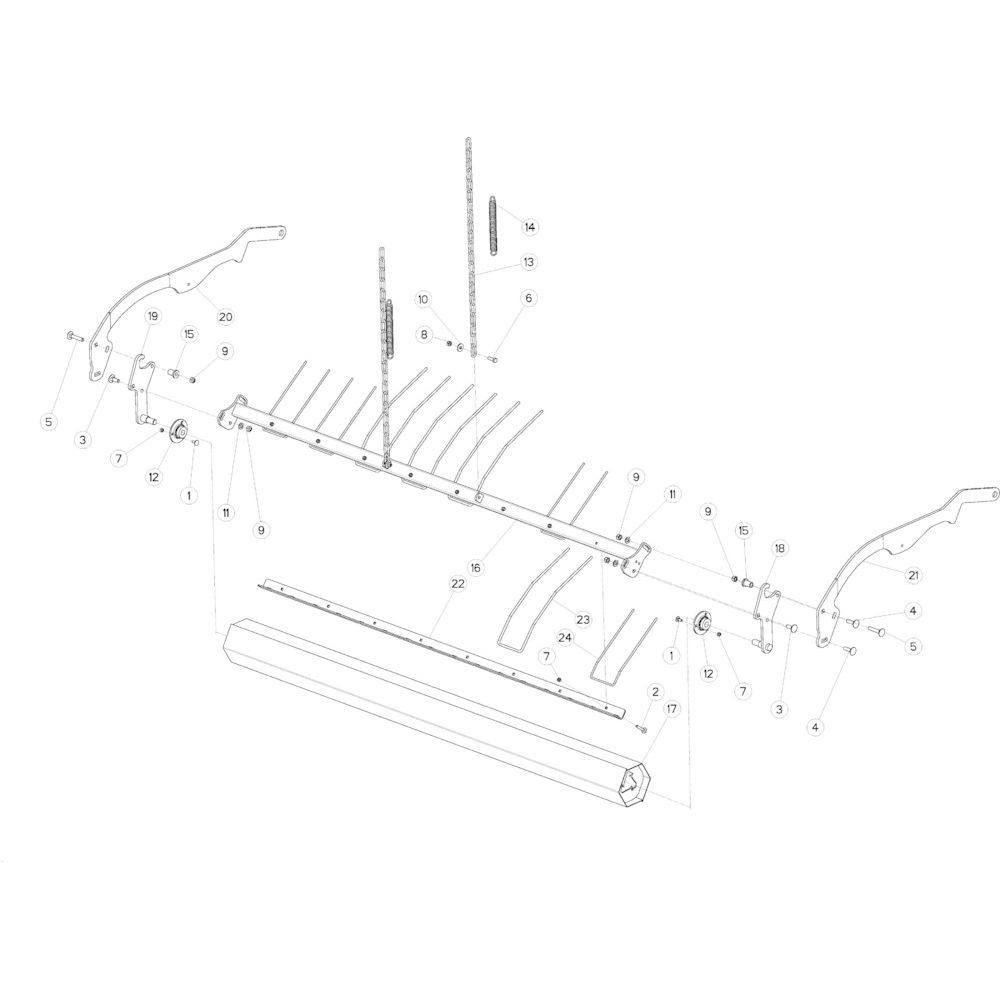 45 Opraper rol passend voor KUHN VB2285