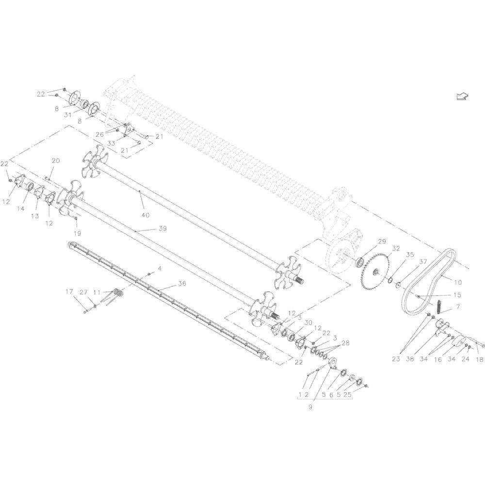 47 Opraper 2,30M passend voor KUHN VB2285