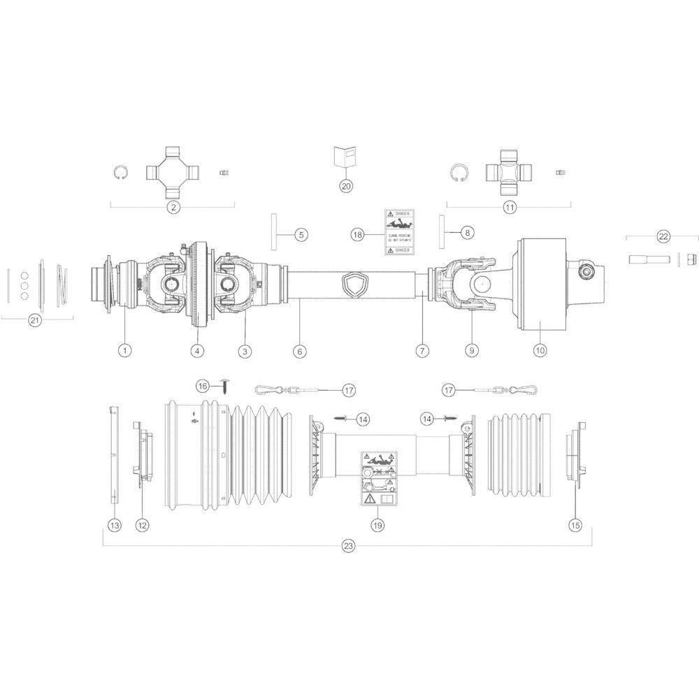 64 Transmissie Optiflow passend voor KUHN VB2285