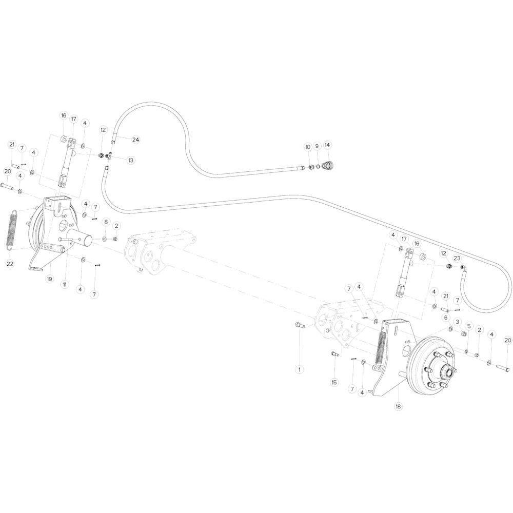 05 Hydraulische rem passend voor KUHN VB2285