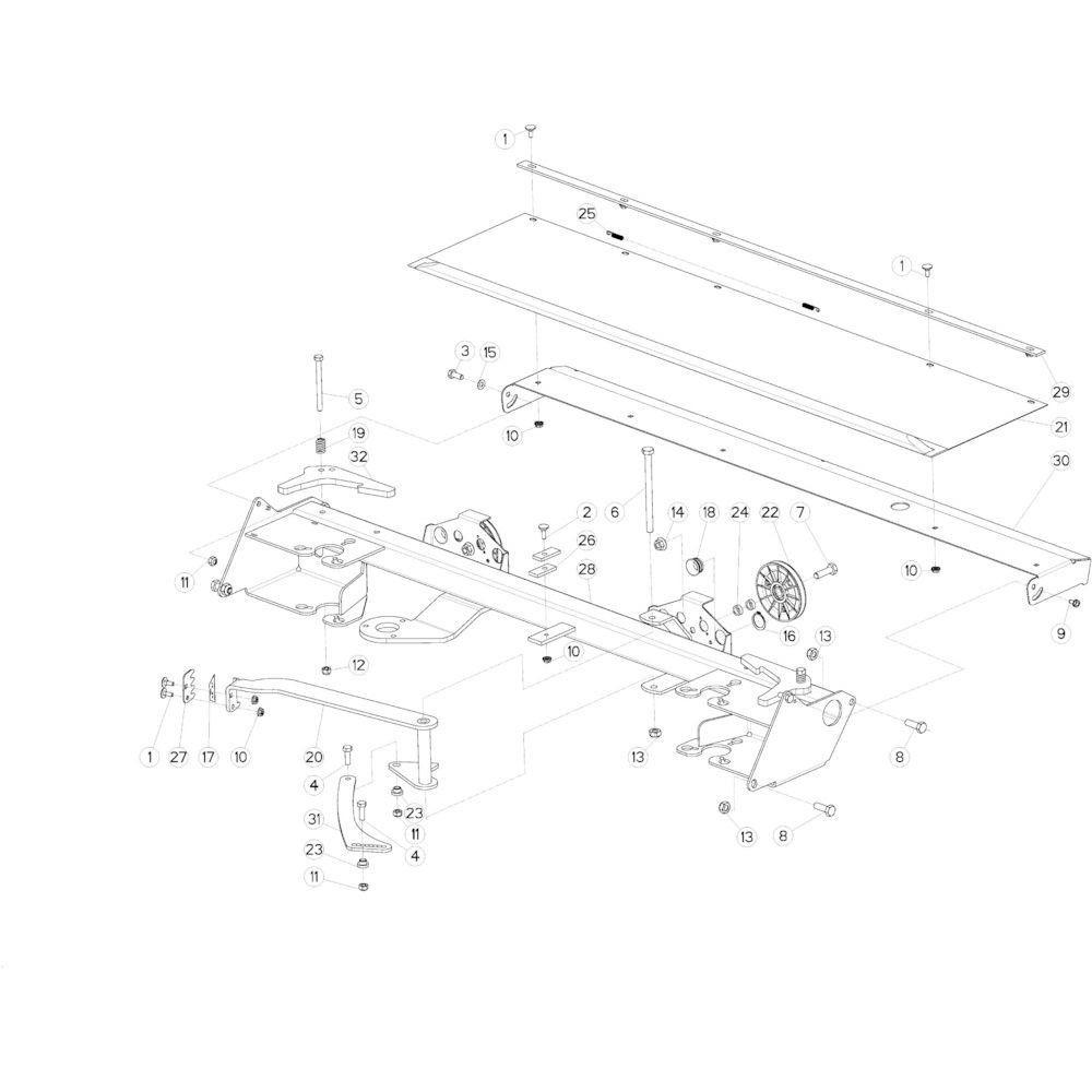 31 Touwbindsysteem passend voor KUHN VB2285