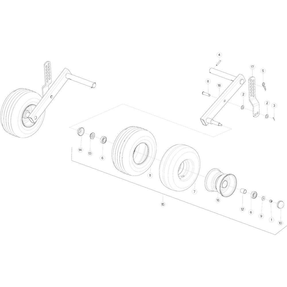 34 Wiel Optiflow opraper passend voor KUHN VB2285