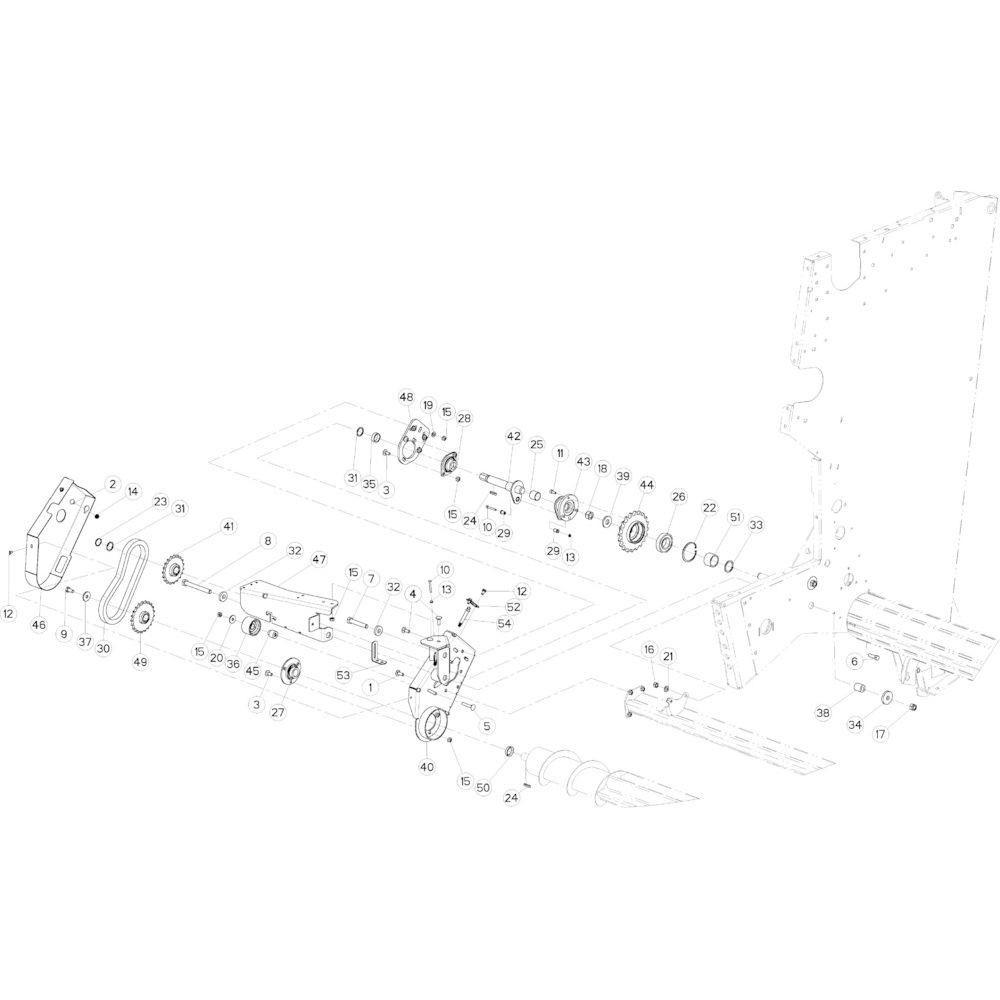 40 Rolaandrijving Optiflow passend voor KUHN VB2285
