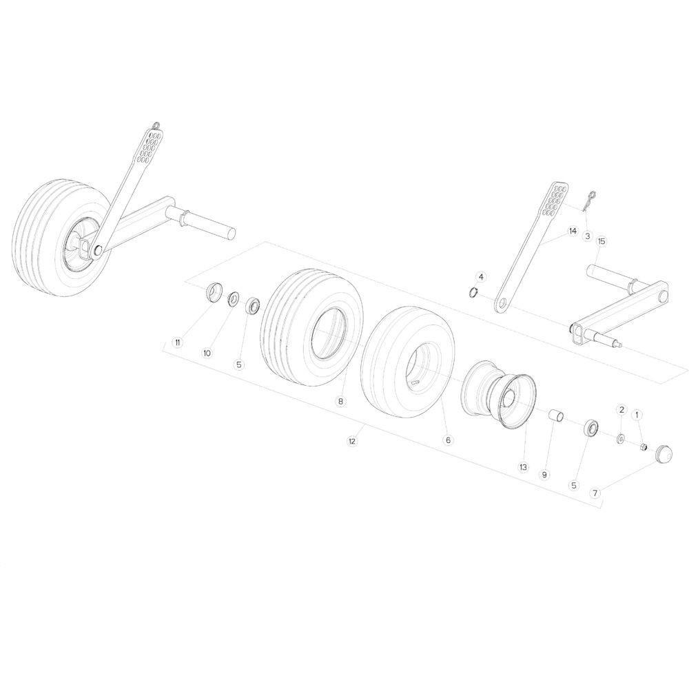 42 Wiel vaste opraper passend voor KUHN VB2285