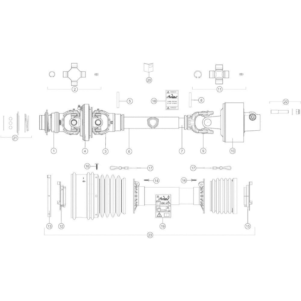 62 Transmissie Optiflow passend voor KUHN VB2285