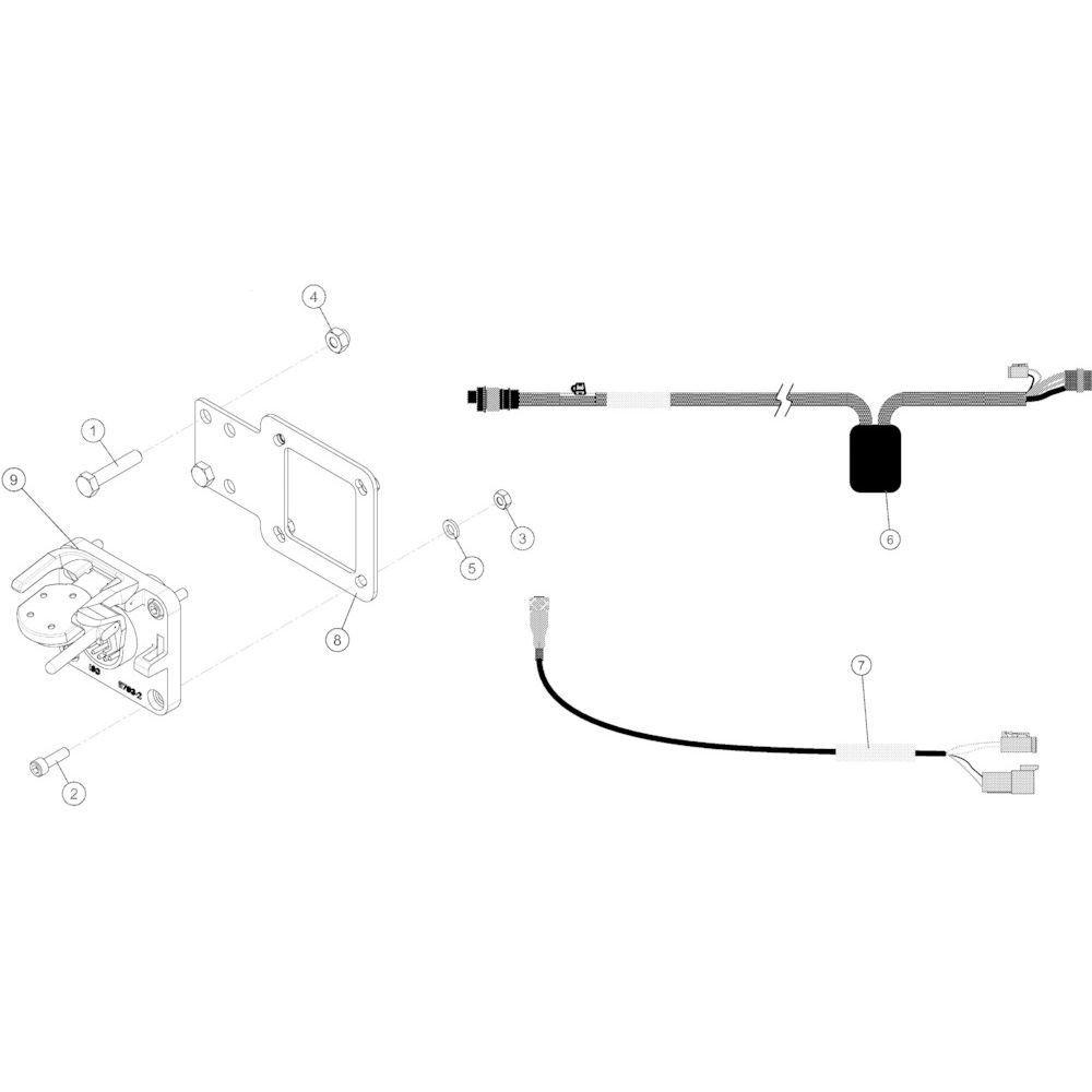 84 Kabel 3-pins Vt50 passend voor KUHN VB2285