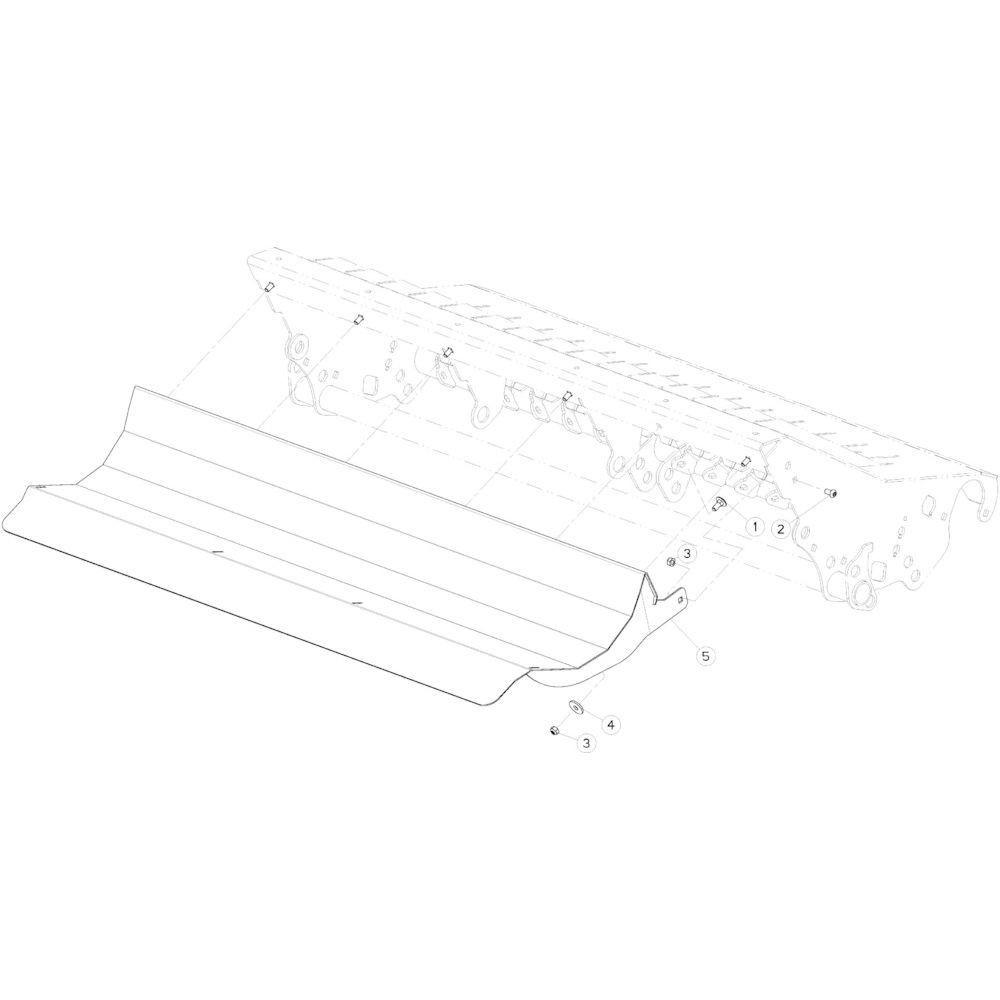 86 Vloerverlengstuk passend voor KUHN VB2285