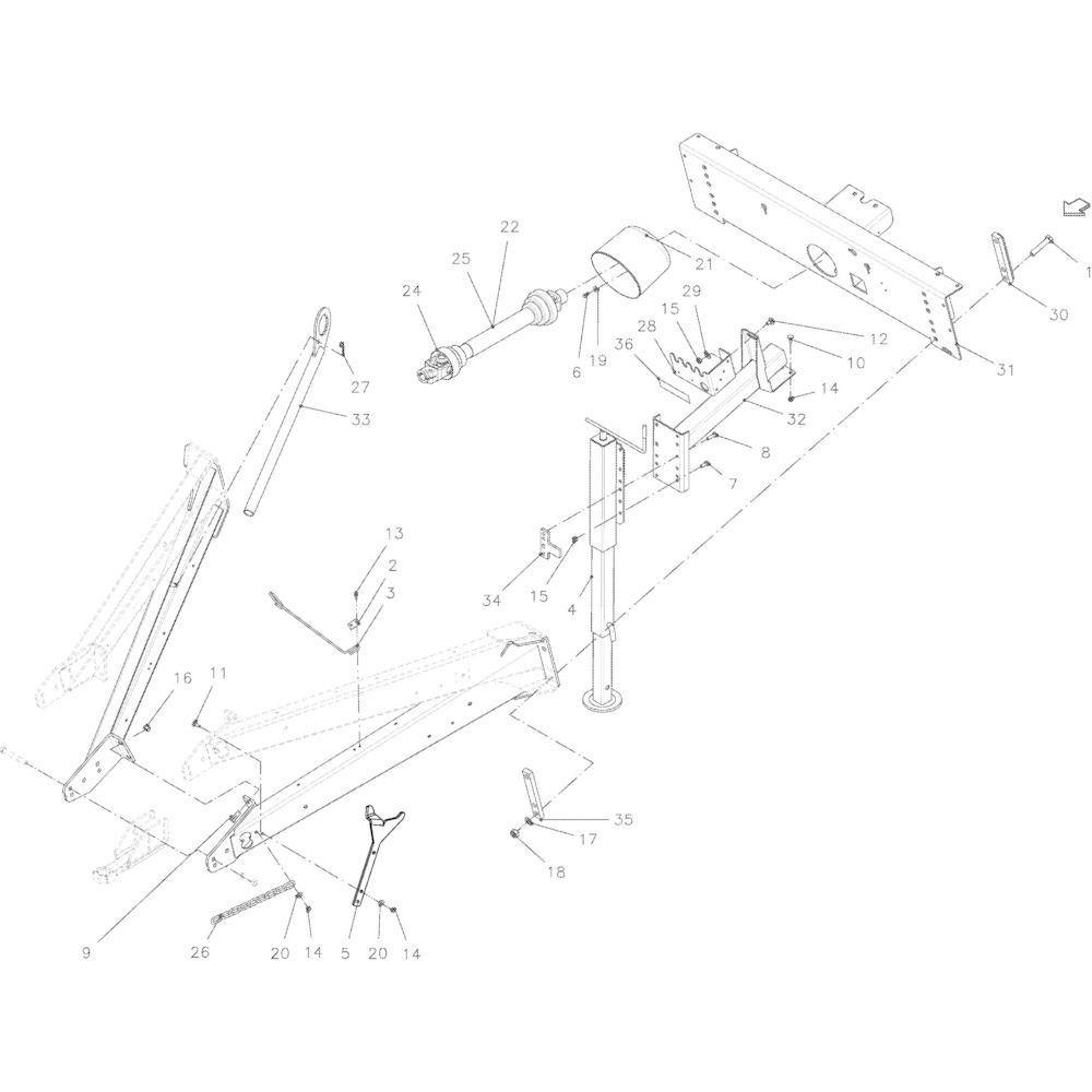 03 Hefinrichting passend voor KUHN VB2285