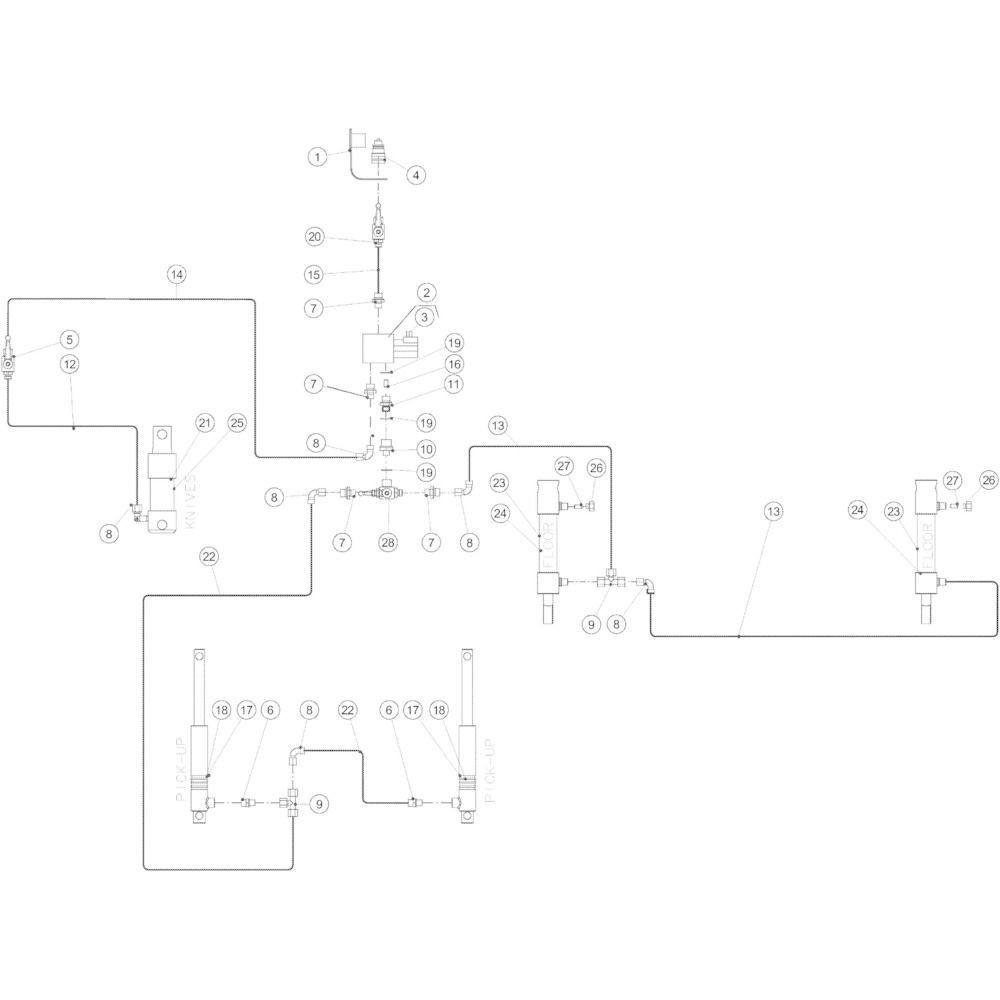 58 Hydraulisch 14-Oc passend voor KUHN VB2285