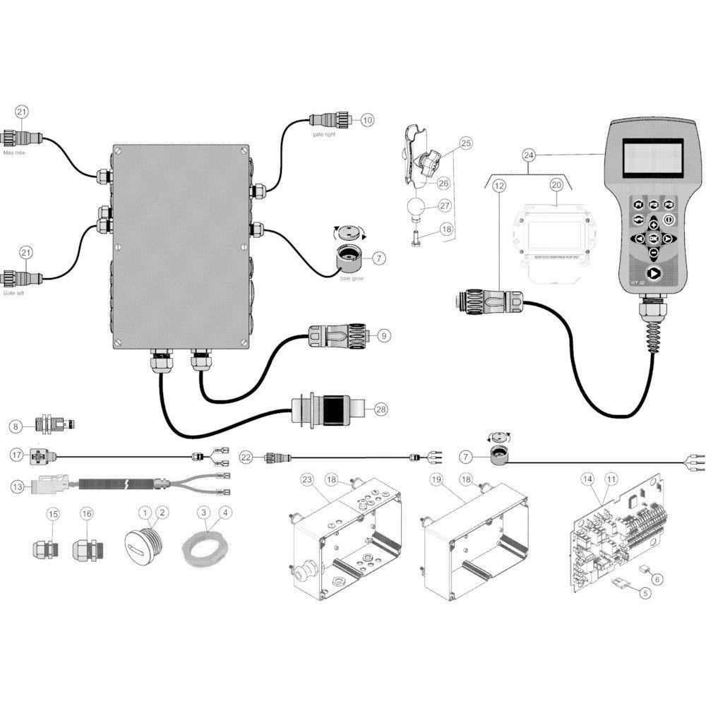 23 Besturingsbox Autoplus passend voor KUHN VB2285