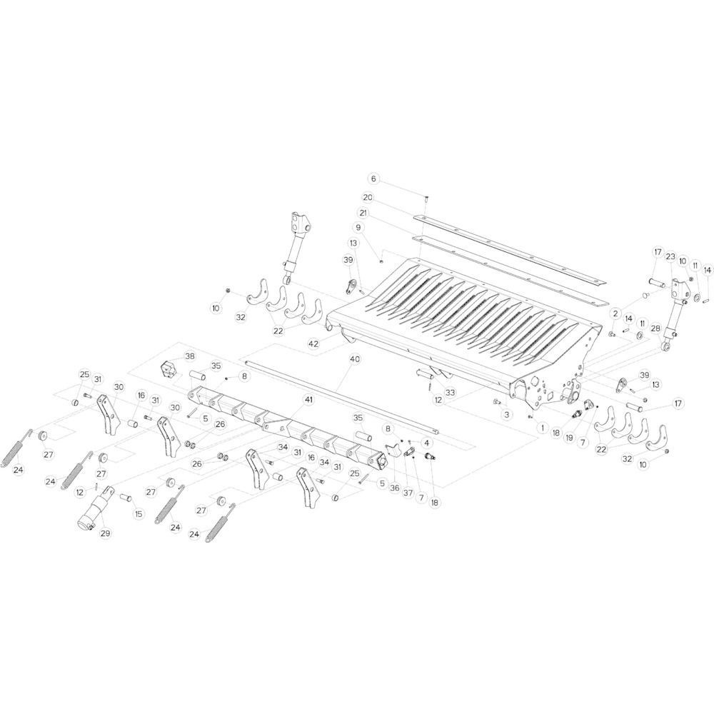 50 Vloer 14-Oc opvang passend voor KUHN VB2285
