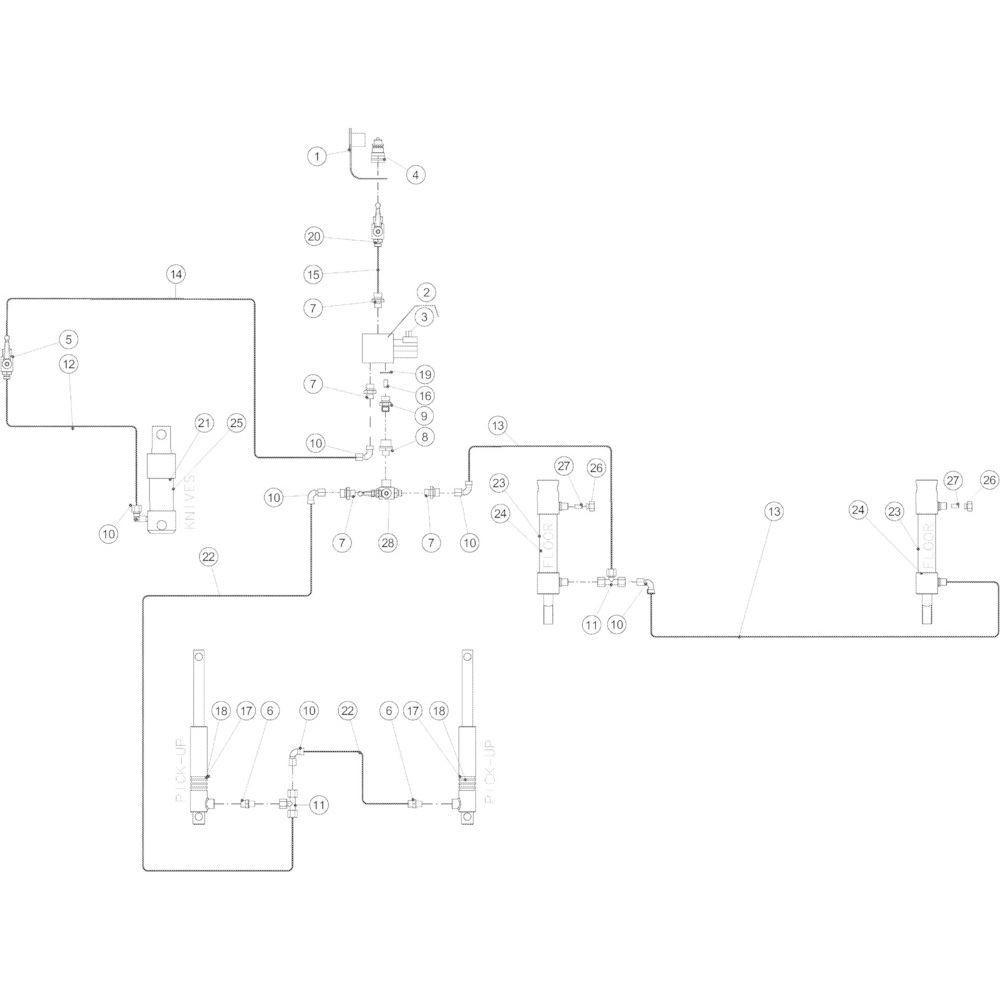 56 Hydraulisch 14-Oc passend voor KUHN VB2285