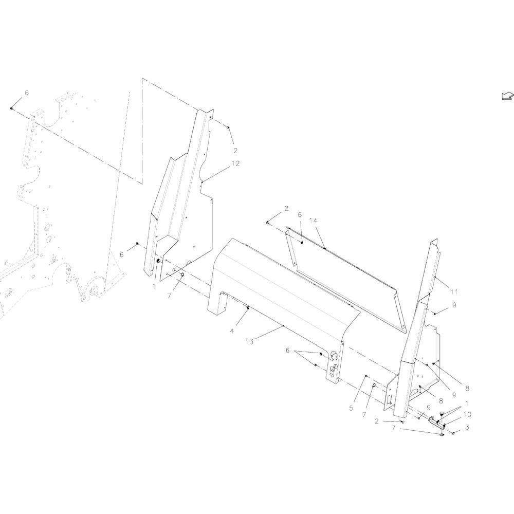 58 Beschermingen touwbindsysteem passend voor KUHN VB2285