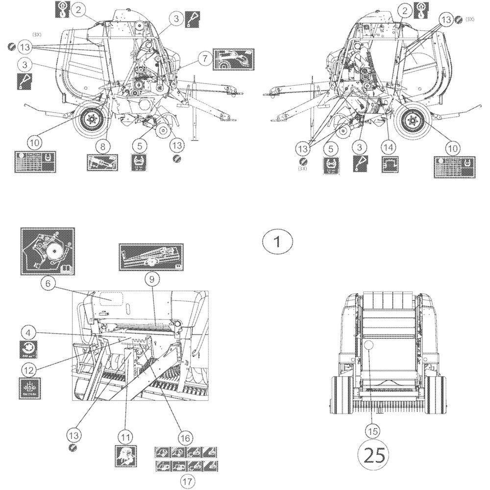 66 Stickers instructies passend voor KUHN VB2285