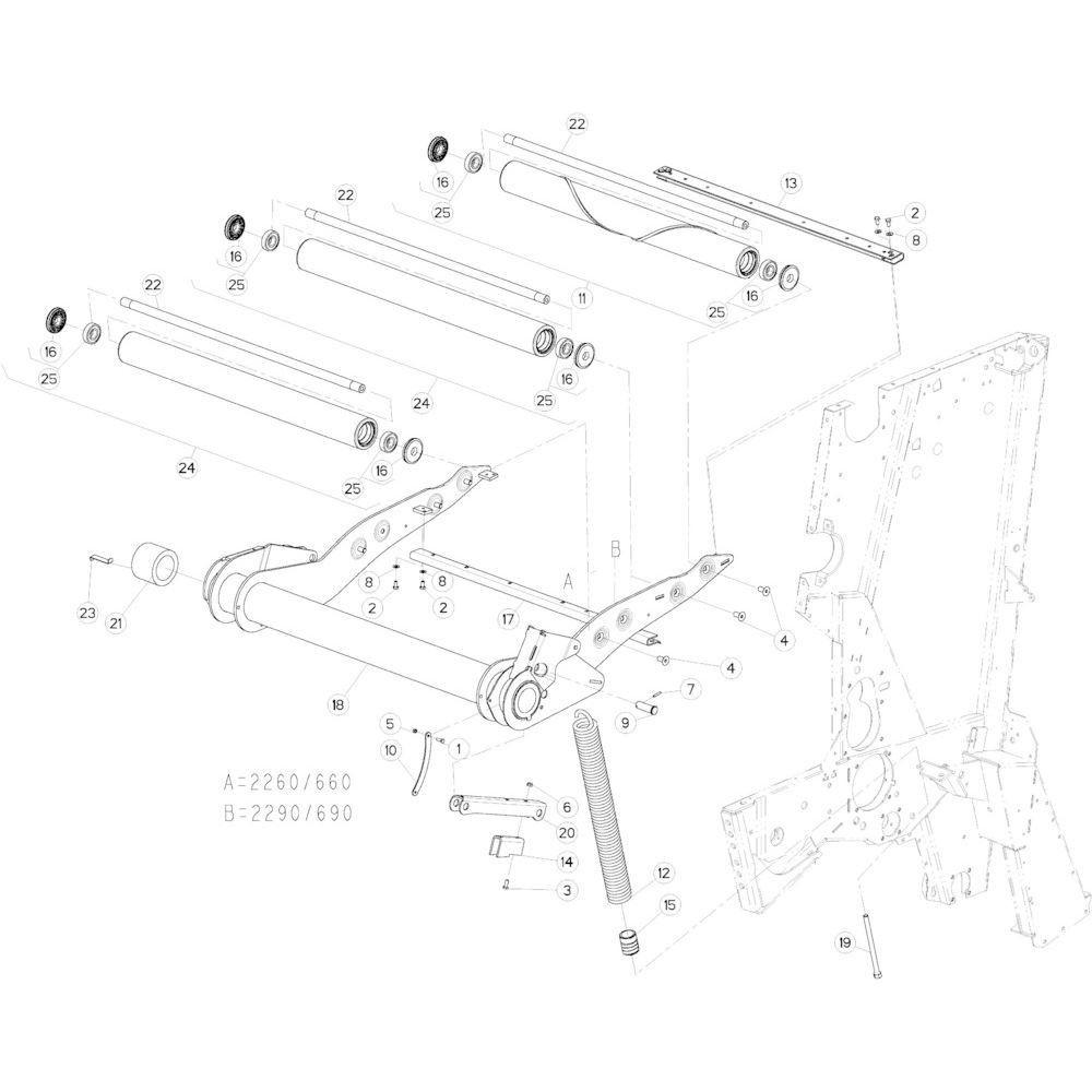 14 Riemspanner passend voor KUHN VB 2290