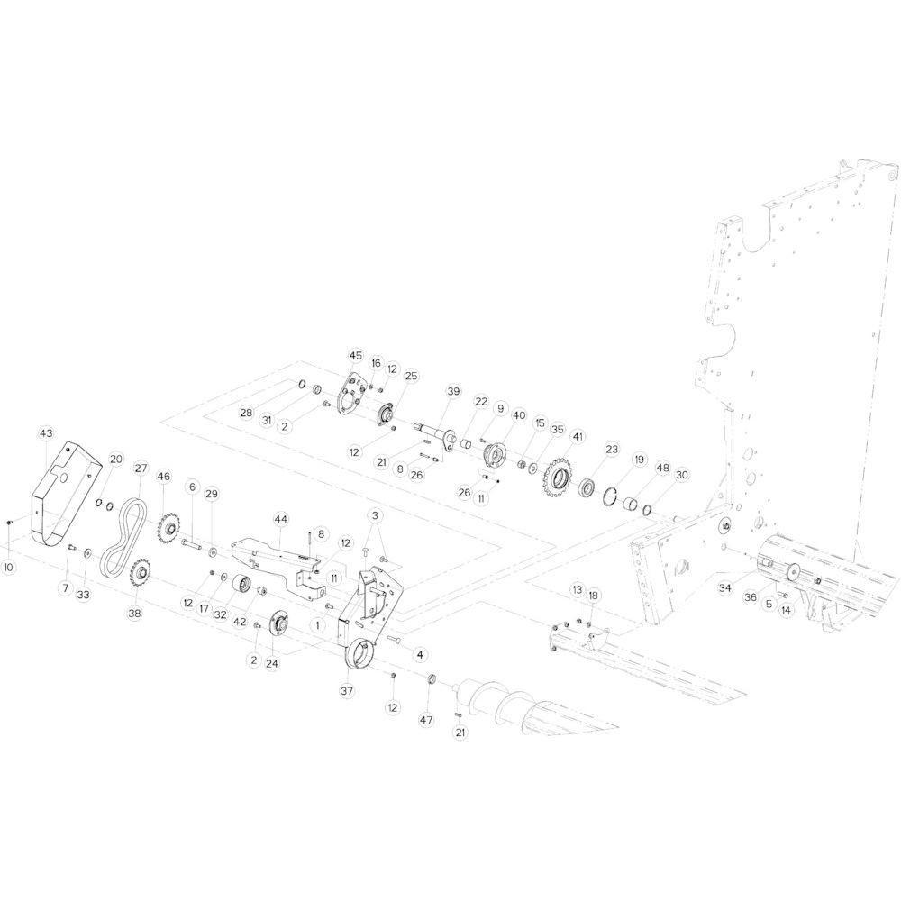 44 Rolaandrijving Optiflow passend voor KUHN VB 2290