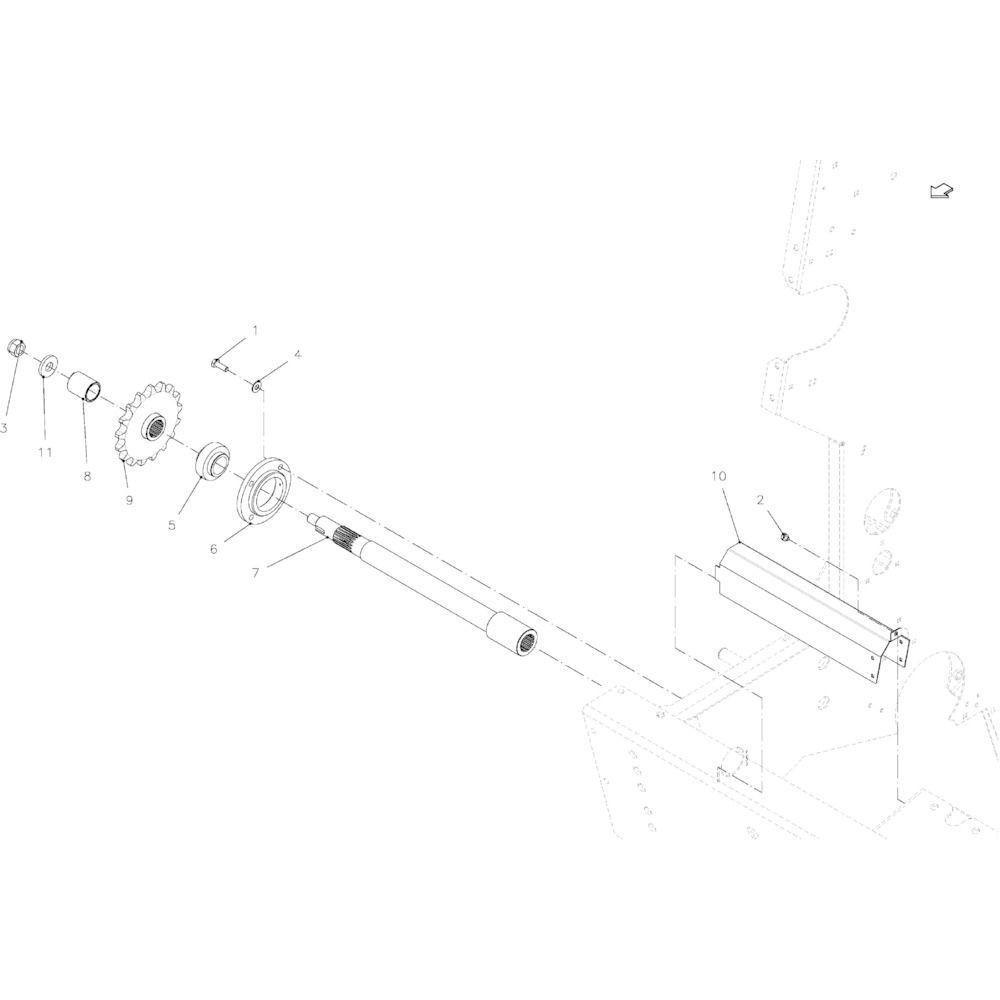 02 Aandrijving passend voor KUHN VB 2290