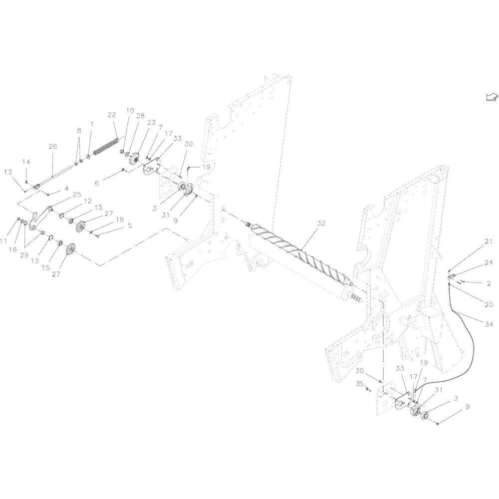 11 Hakselaarrol passend voor KUHN VB 2290