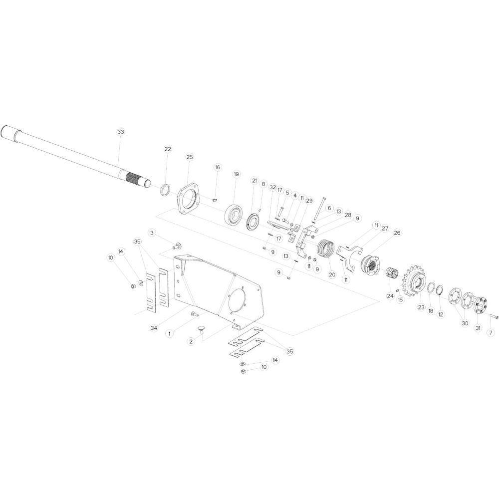 55 Aandrijving R+Oc passend voor KUHN VB 2290