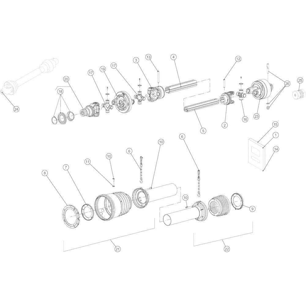 68 Transmissie 14-Oc passend voor KUHN VB 2290