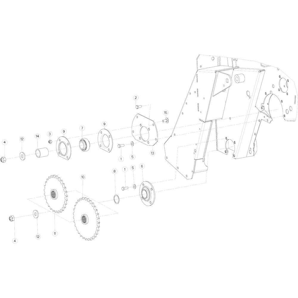 19 Aandrijfketting rechts passend voor KUHN VB 2290