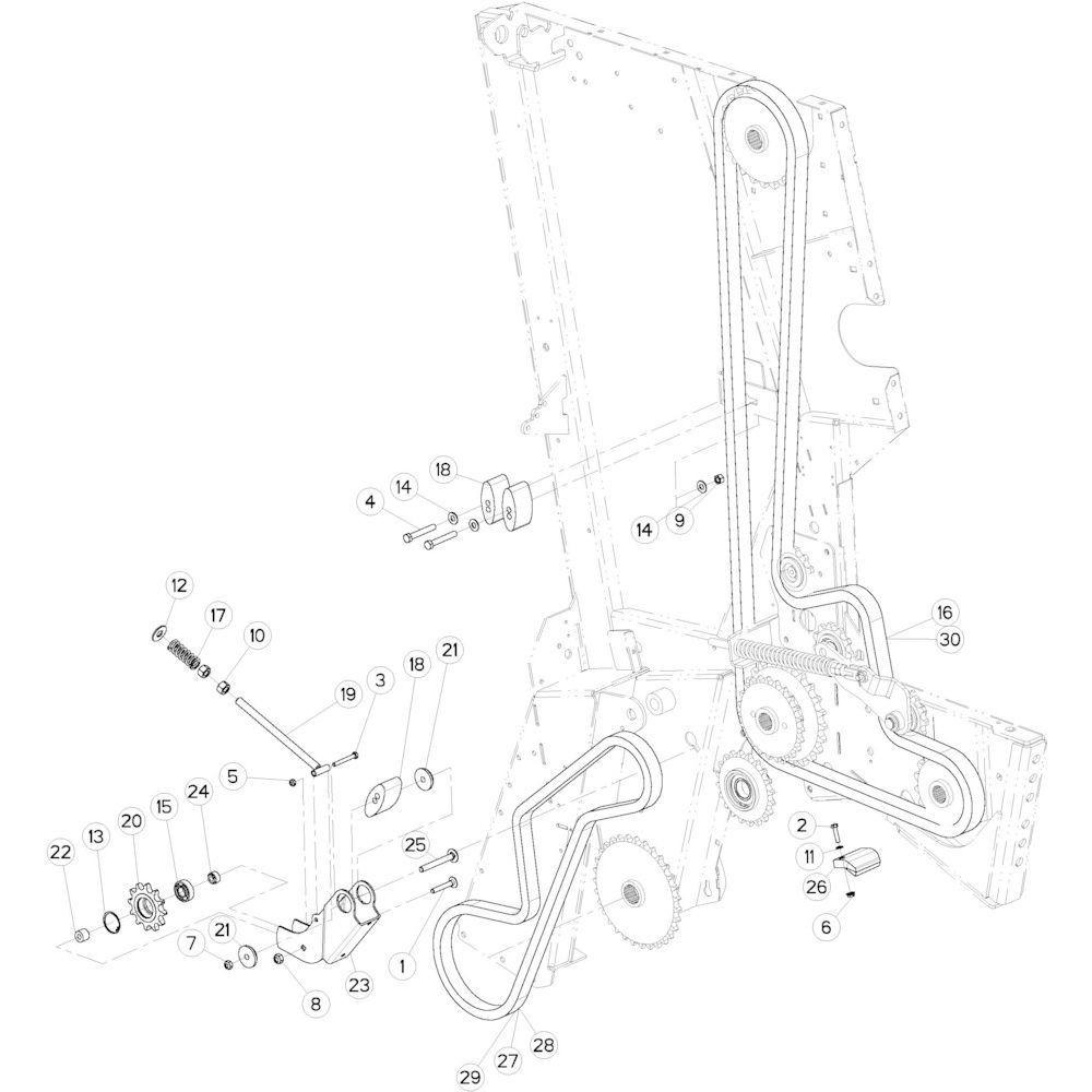 22 Kettingspanner passend voor KUHN VB 2290