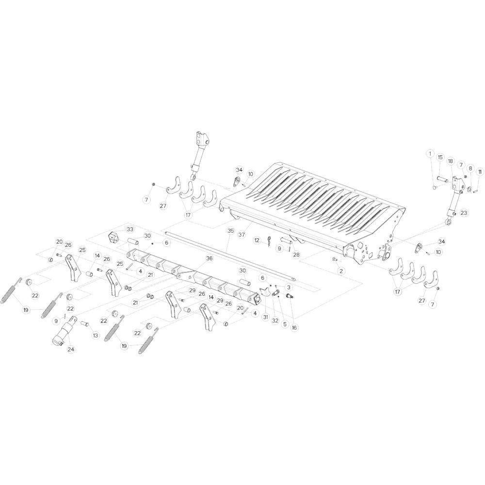 54 Vloer 14-Oc opvang passend voor KUHN VB 2290