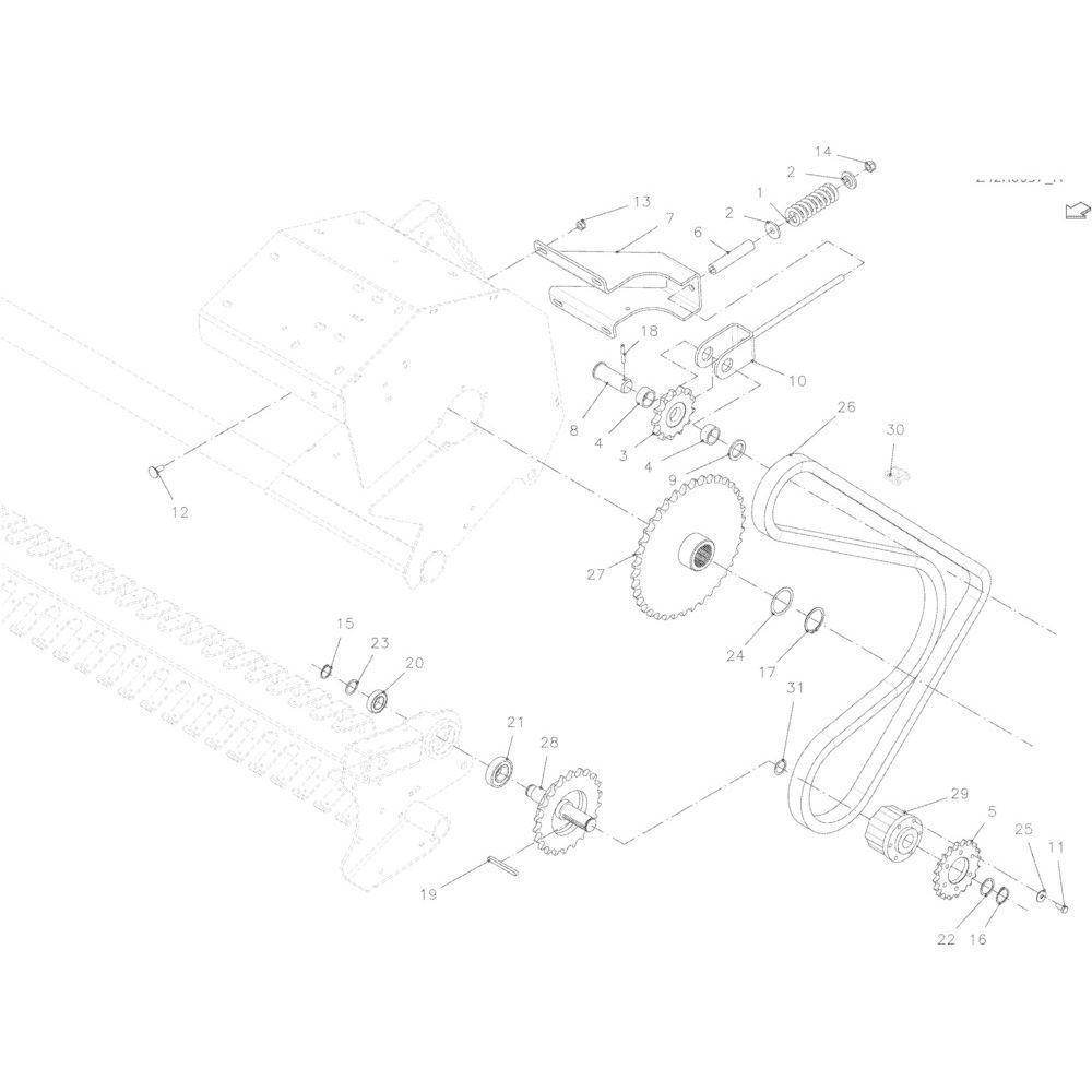 57 Kettingspanner R+Oc passend voor KUHN VB 2290