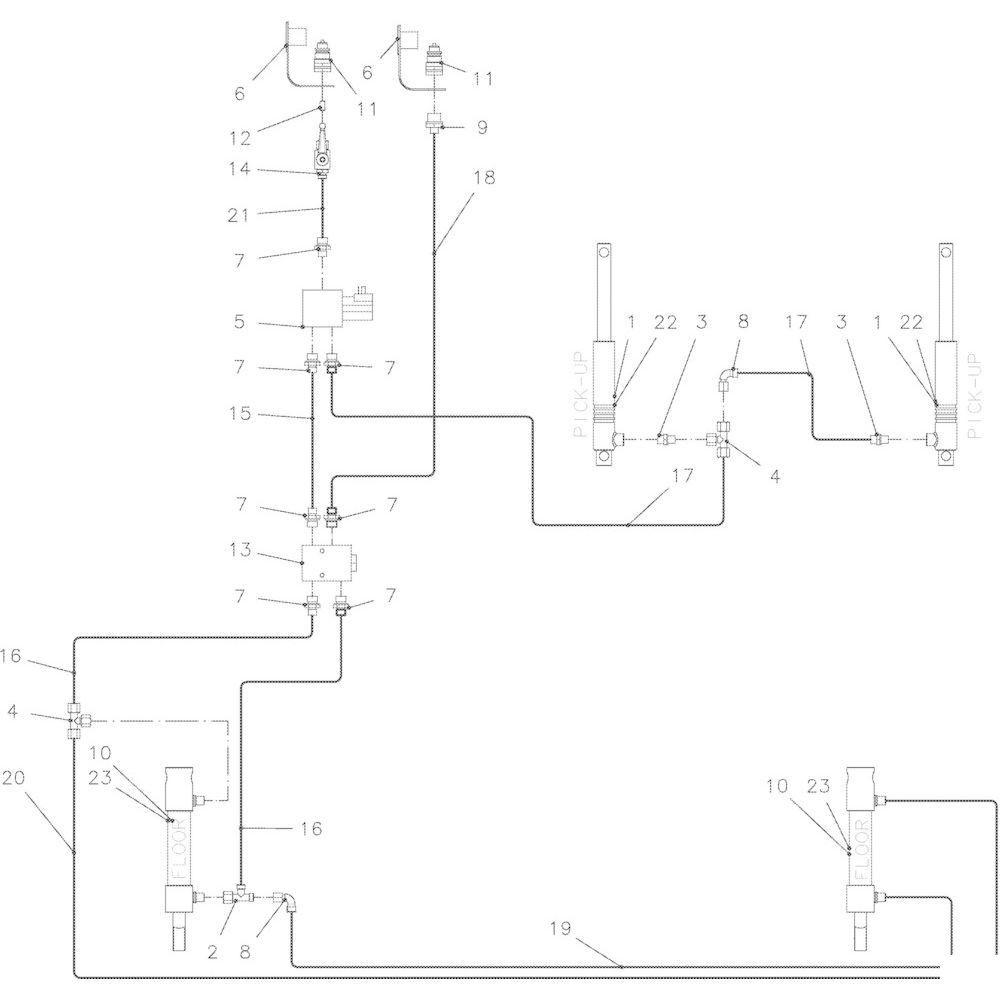 60 Hydraulisch R passend voor KUHN VB 2290