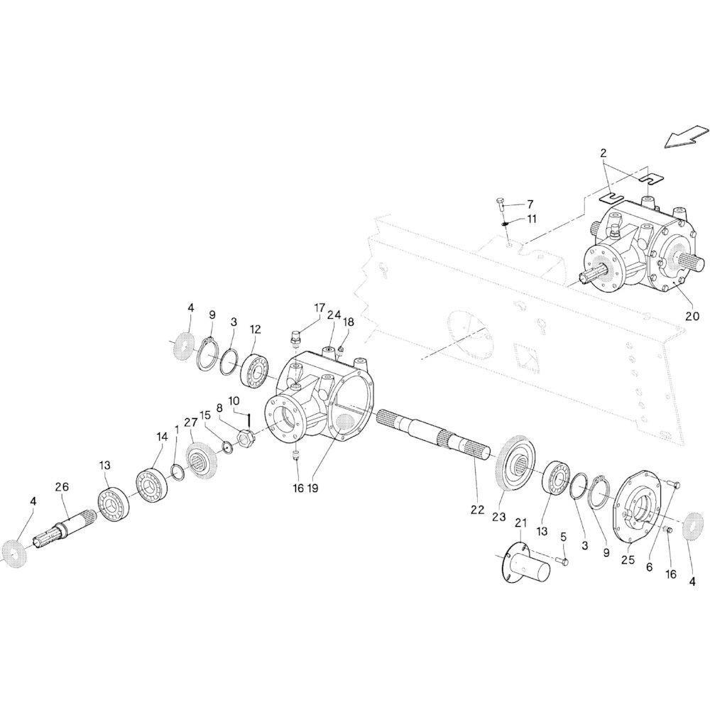 01 Tandwielkast primair passend voor KUHN VB 2290