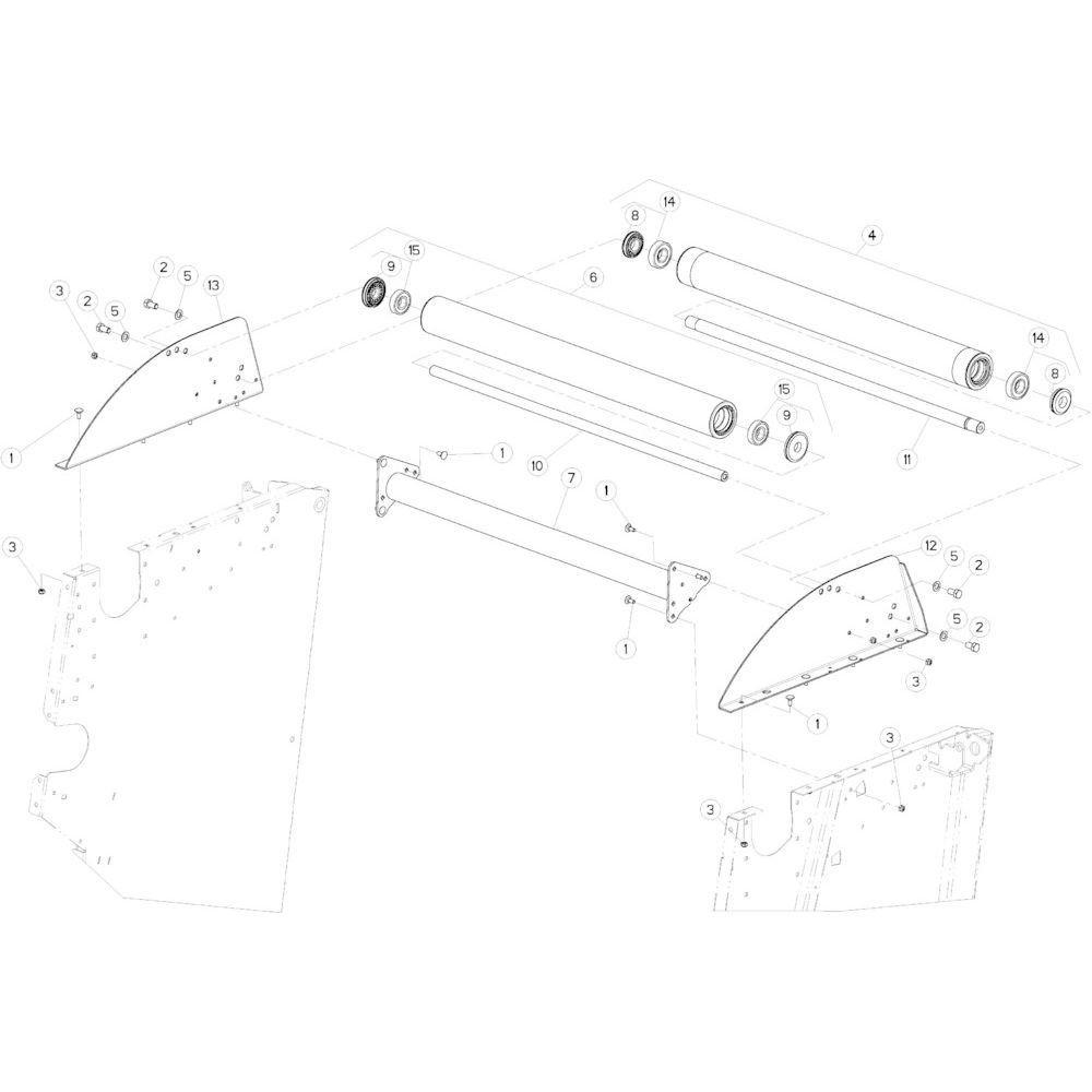 12 Rol bovenste passend voor KUHN VB 2290