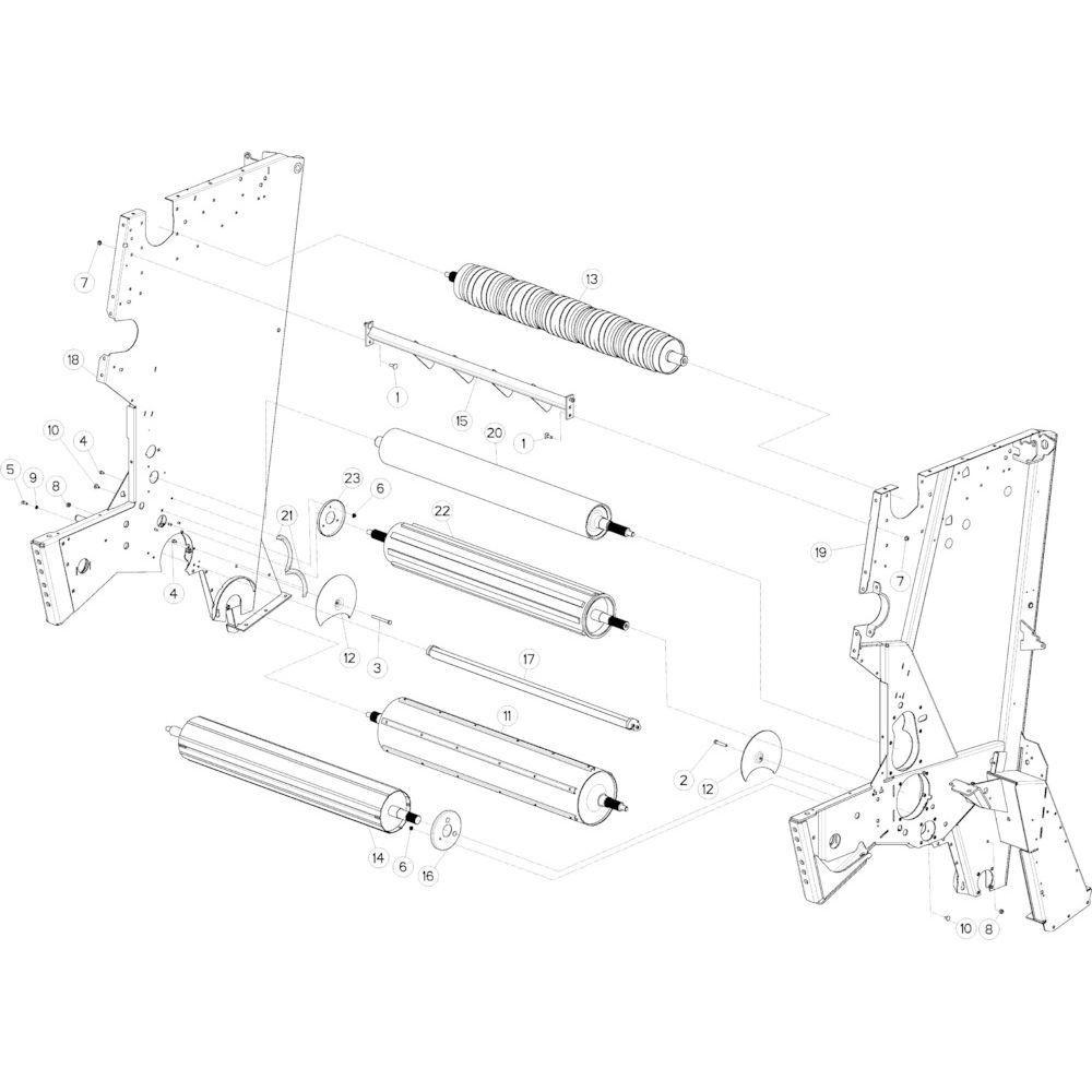 14 Rol centraal frame passend voor KUHN VB 2290