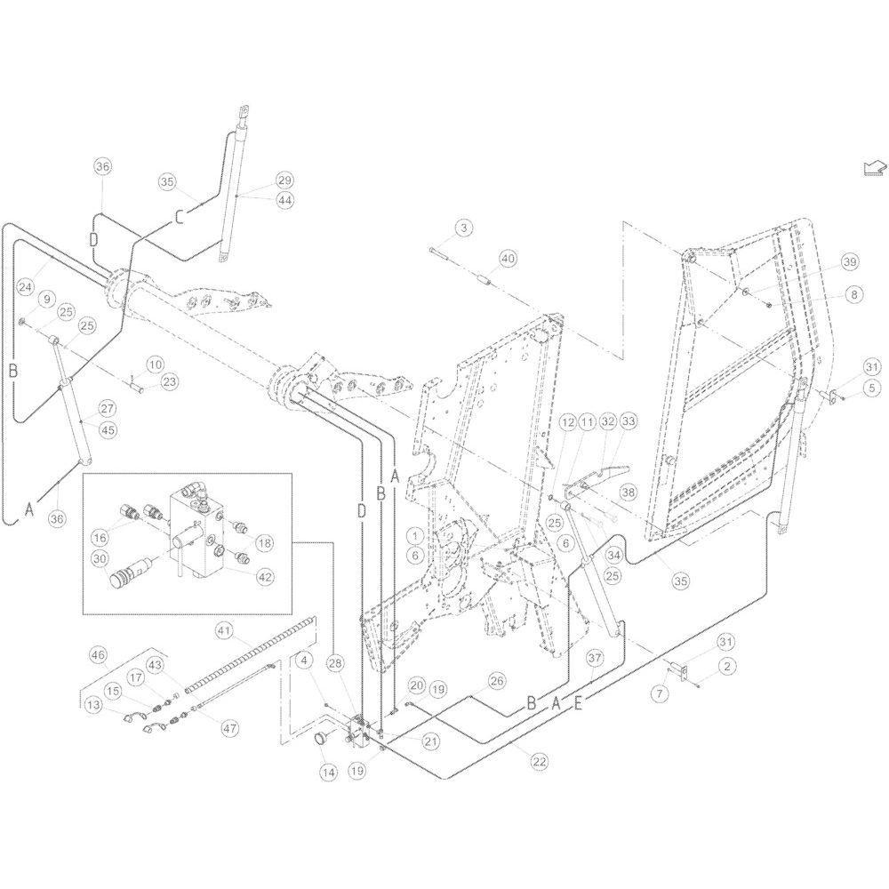 24 Hydraulische achterklep passend voor KUHN VB 2290