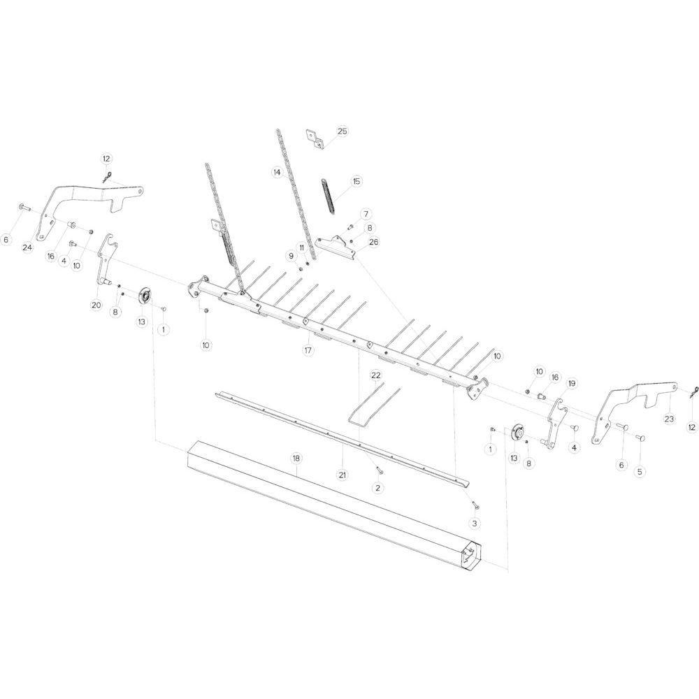 38 Gewasgeleider Optiflow passend voor KUHN VB 2290