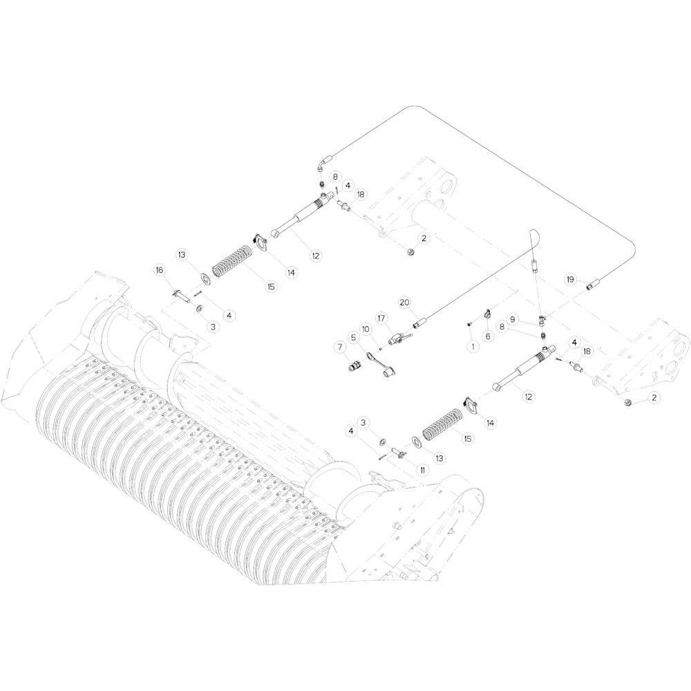 42 Hydraulische Optiflow passend voor KUHN VB 2290