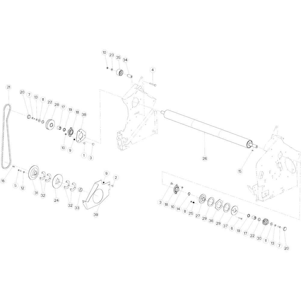 34 Netwikkelset aandrijving passend voor KUHN VB 2295