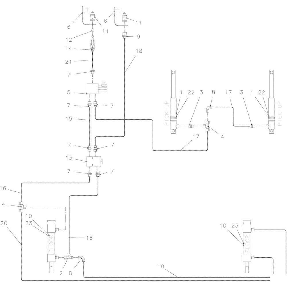 56 Hydraulisch R passend voor KUHN VB 2295