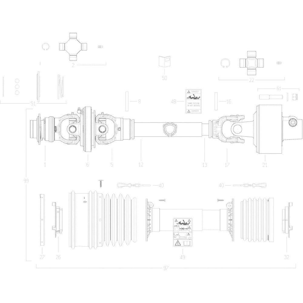 63 Transmissie 4500412 passend voor KUHN VB 2295