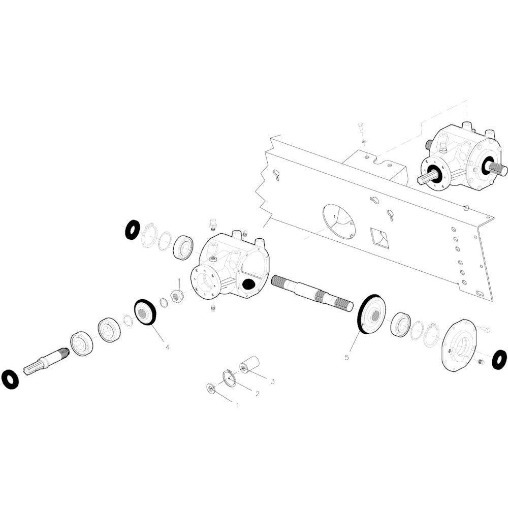 73 Uitrusting 1000 omw/min passend voor KUHN VB 2295