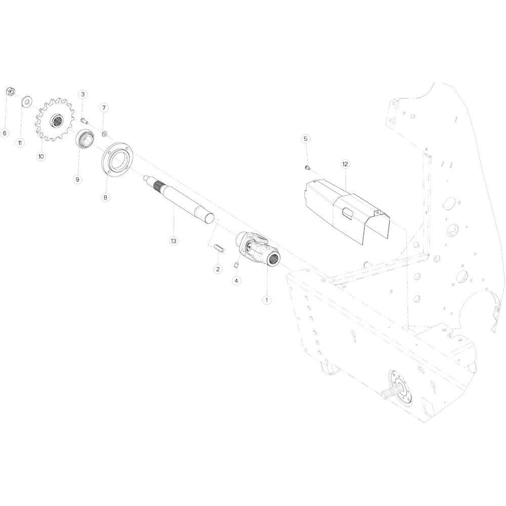 02 Aandrijving passend voor KUHN VB 2295