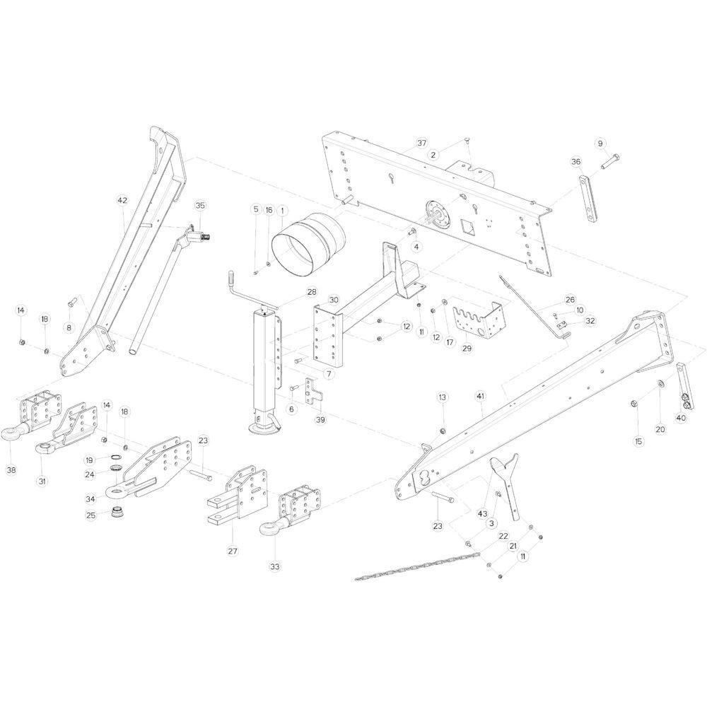 03 Hefinrichtingframe passend voor KUHN VB 2295