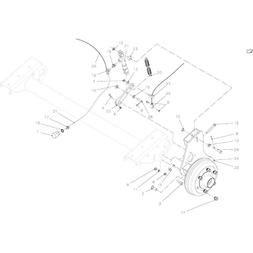 05 Hydraulische rem passend voor KUHN VB 2295