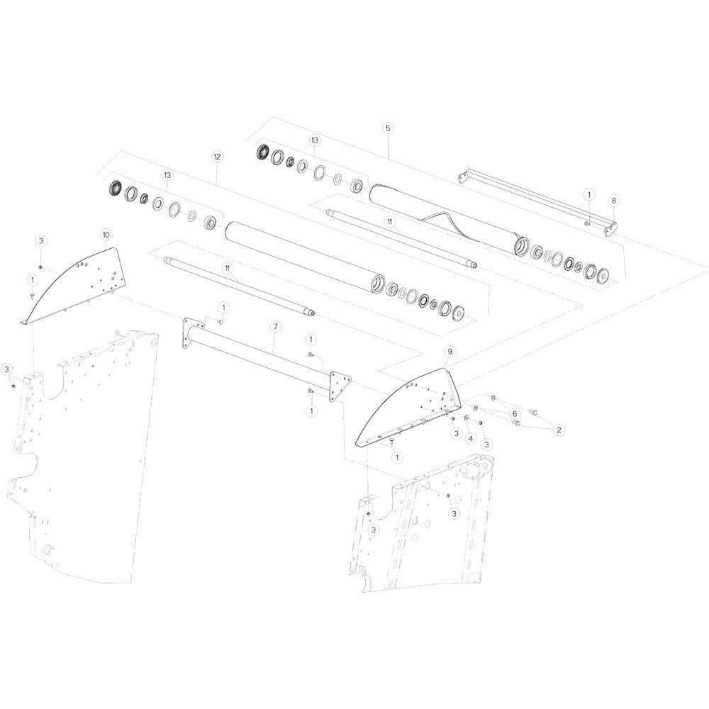 12 Rol bovenste passend voor KUHN VB 2295