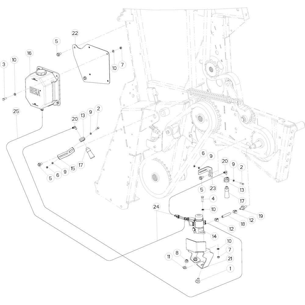 26 Smeersysteem passend voor KUHN VB 2295